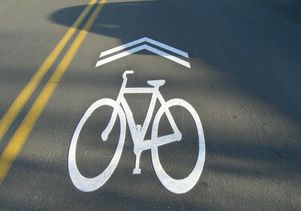 Click to open the large image: Bicycle Sharrows