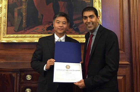 Neil Garg and U.S. Rep. Ted Lieu