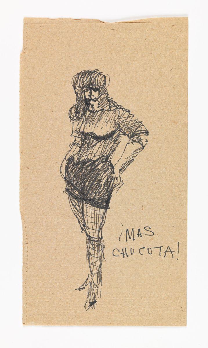 José Montoya sketch of woman