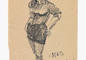 Click to open the large image: José Montoya sketch of woman