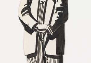 Click to open the large image: José Montoya sketch of zoot suit man
