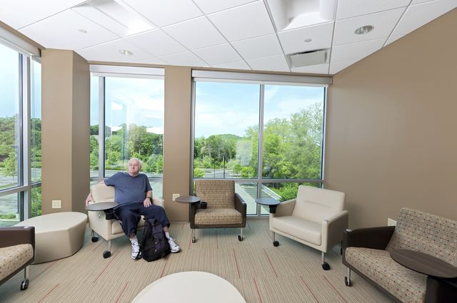 Stock image of a man in a nursing home