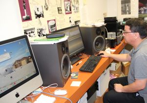 David Martinelli, audio technician at the UCLA Ethnomusicology Archive
