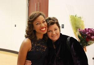 India Carney and her voice coach, professor Juliana Gondek