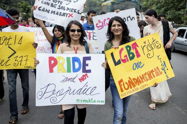 LGBT activists in India