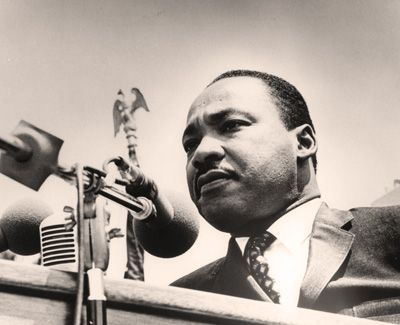 Closeup of MLK