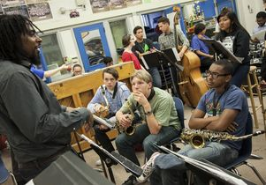 Monk at North Hollywood High School