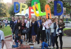 Click to open the large image: Family and friends at UCLA's 2015 medical school graduation