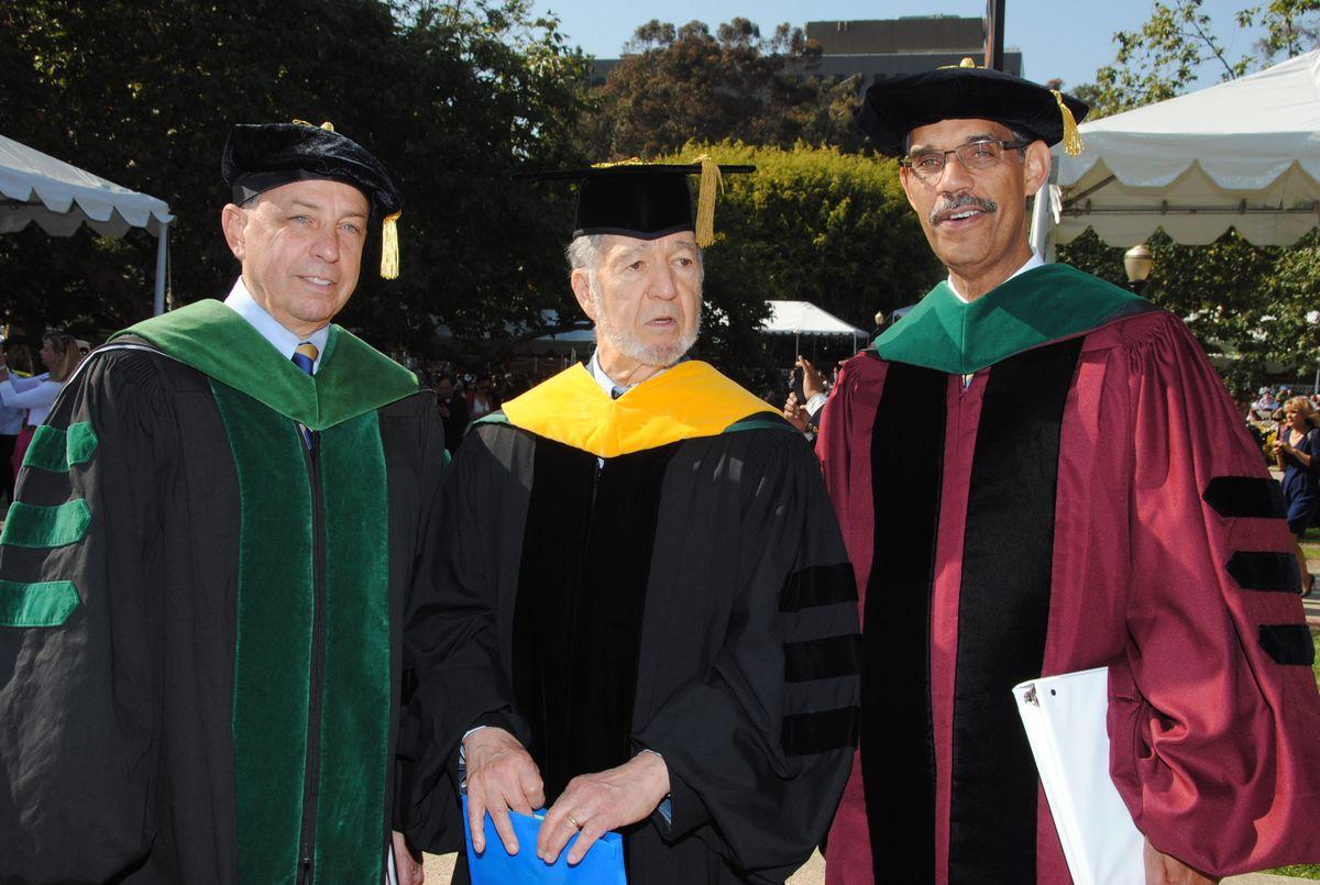 Dr. John Mazziotta, Professor Jared Diamond and Dr. Clarence Braddock III