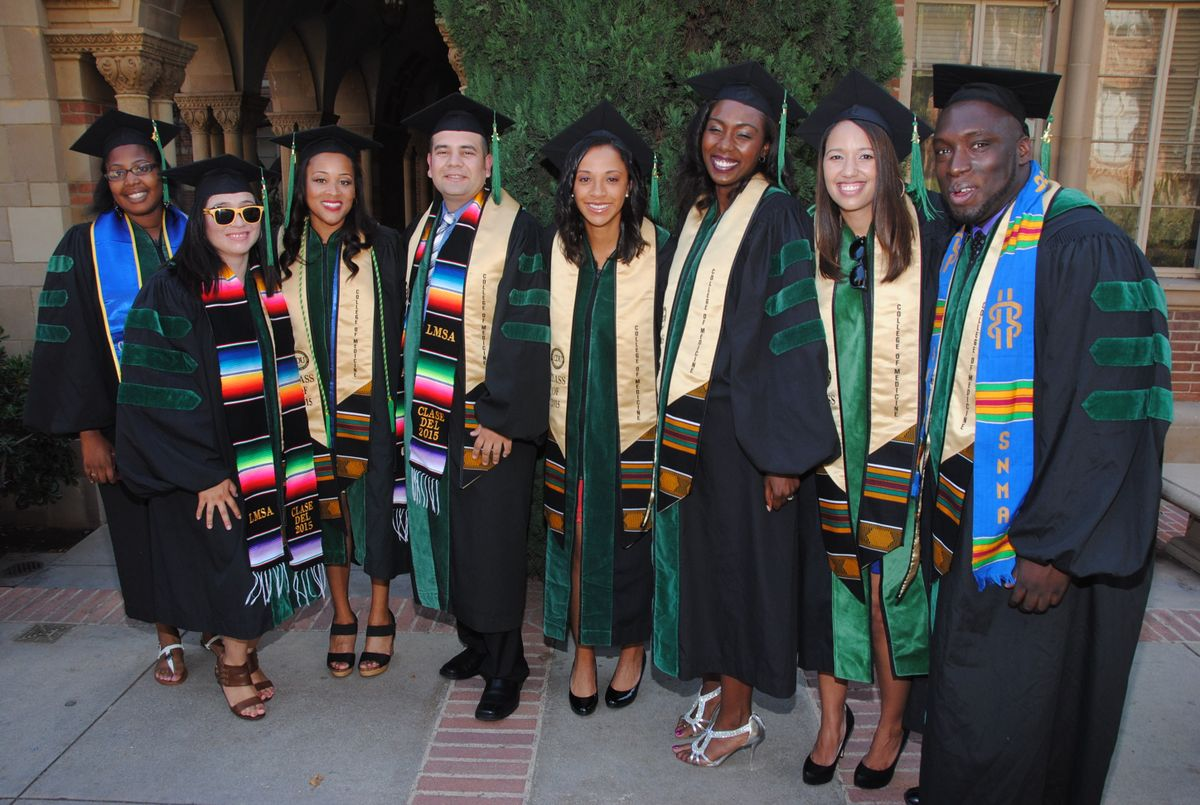 2015 graduates of the David Geffen School of Medicine at UCLA