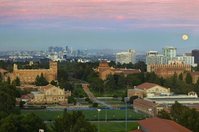 UCLA campus overhead view