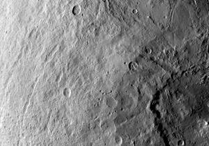 Ceres' southern hemisphere