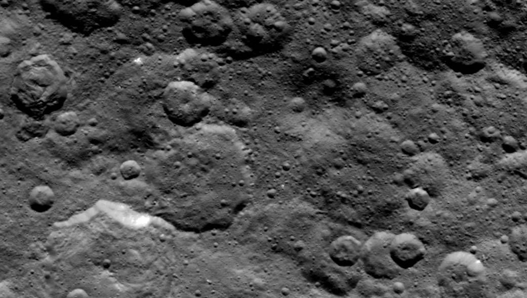 Craters in Ceres' northern hemisphere