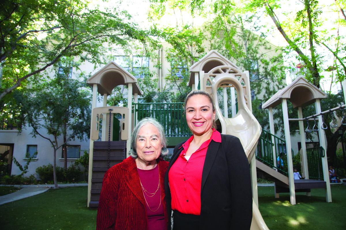Esther Schiller and Marlene Gomez