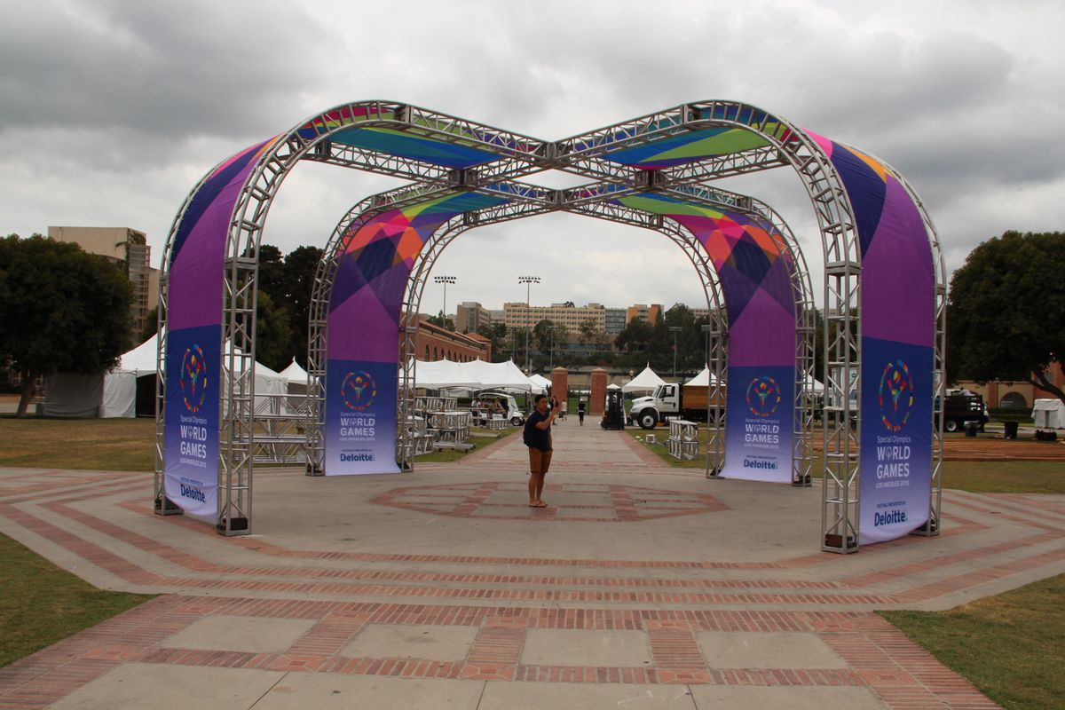 Special Olympics World Games staging in Wilson Plaza