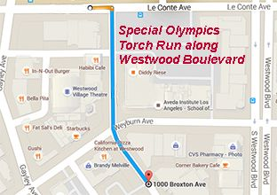 Special Olympics torch run route