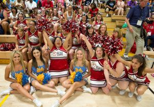 Click to open the large image: UCLA Spirit Squad and cheerleaders from Maryland