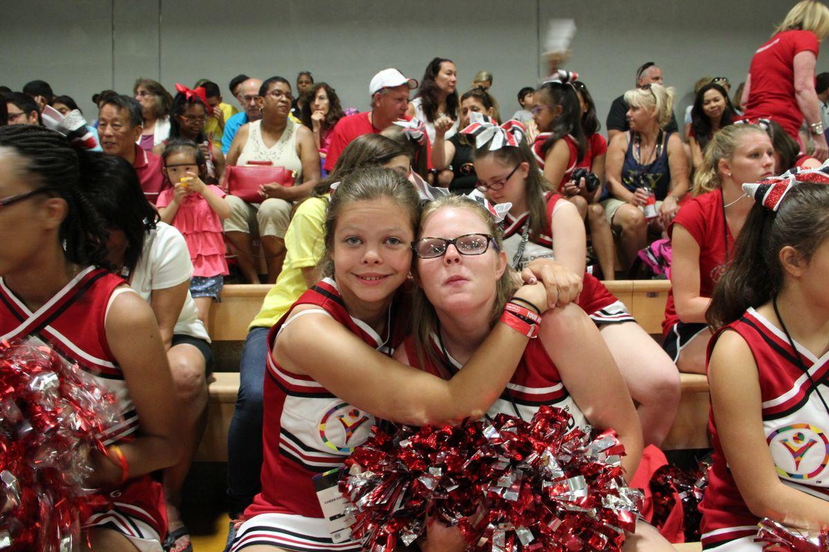 Two cheerleaders from SOMO JOY squad