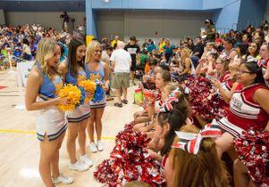 Bruin squad meets SOMO JOY cheerleaders