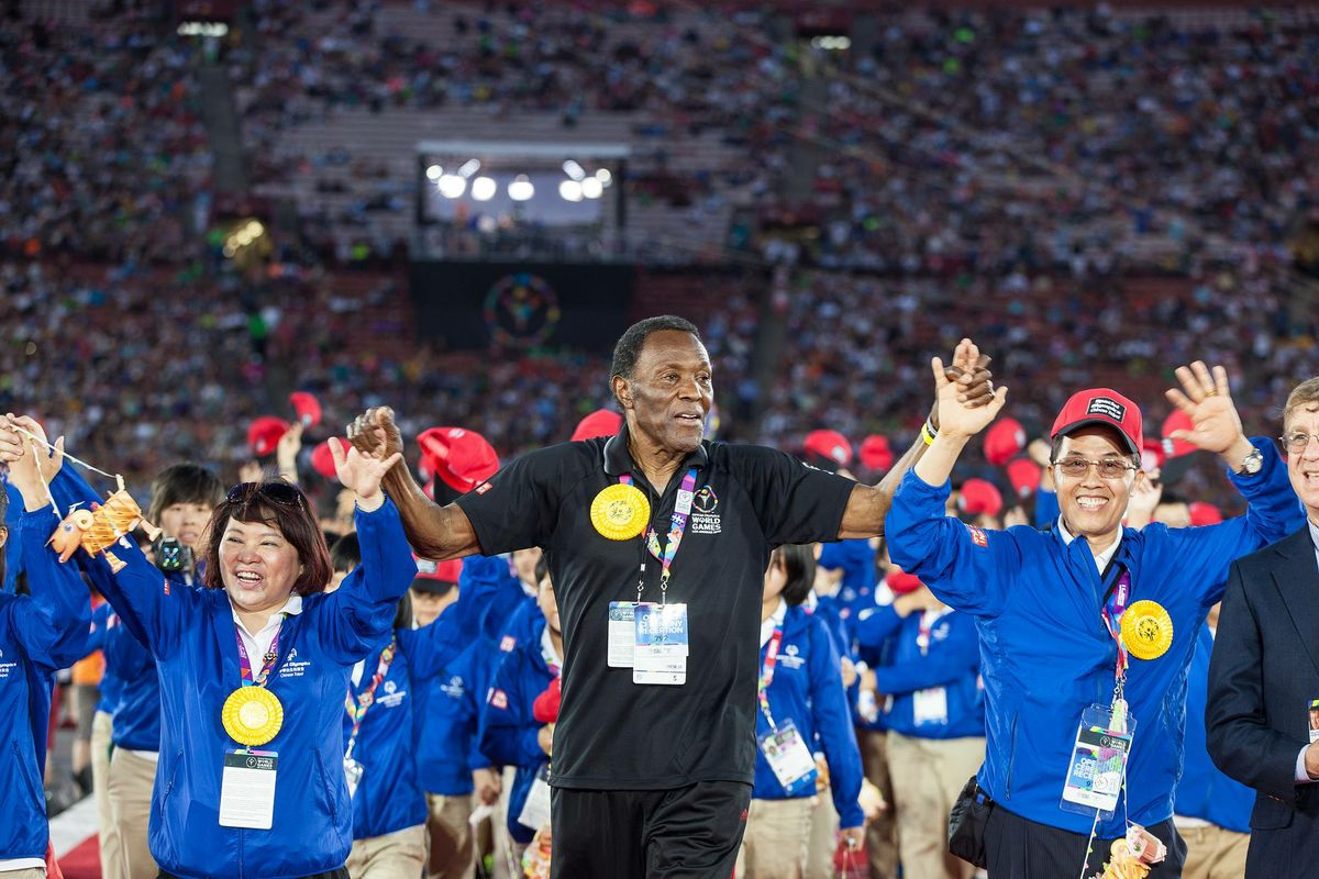 Rafer Johnson at Opening Ceremony