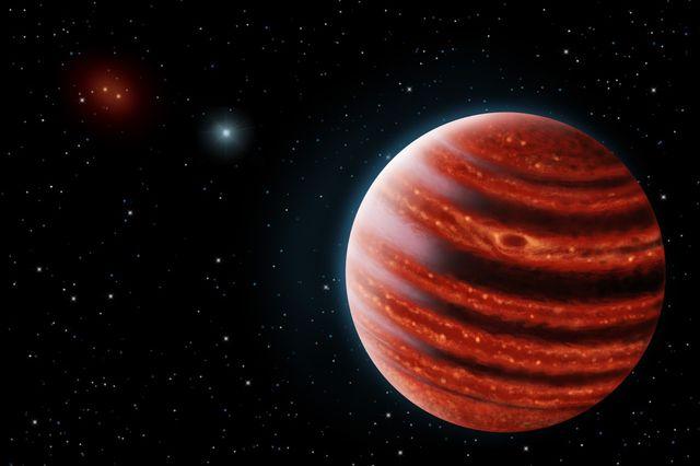 Rendering of Jupiter-like planet