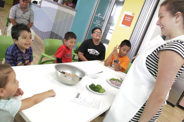 Claudia Varney and kids at Venice Family Clinic