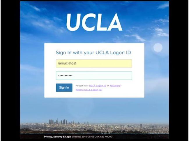 Photo | login page | UCLA