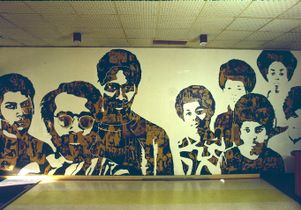 The Black Experience mural in Ackerman Union