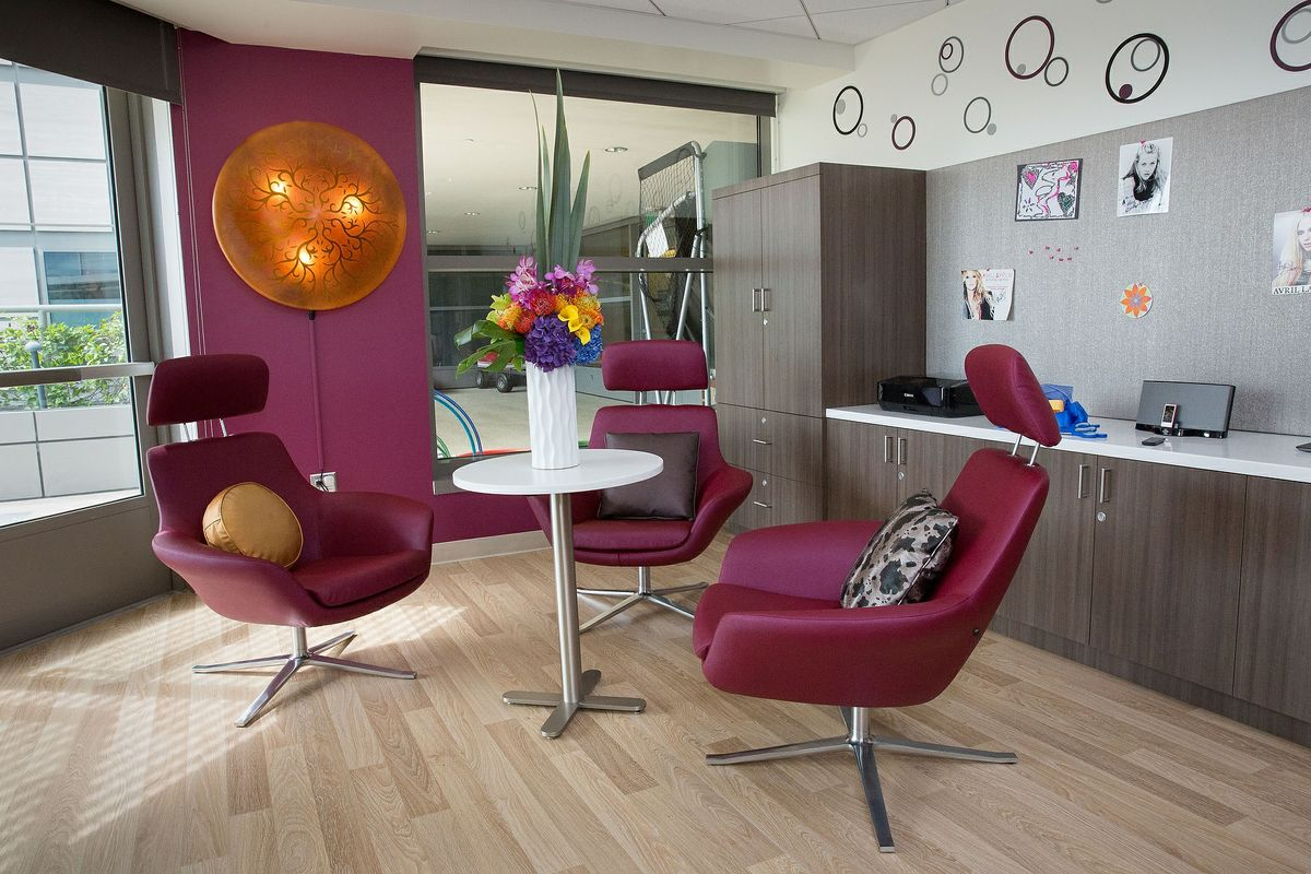 Newly remodeled teen lounge at Mattel