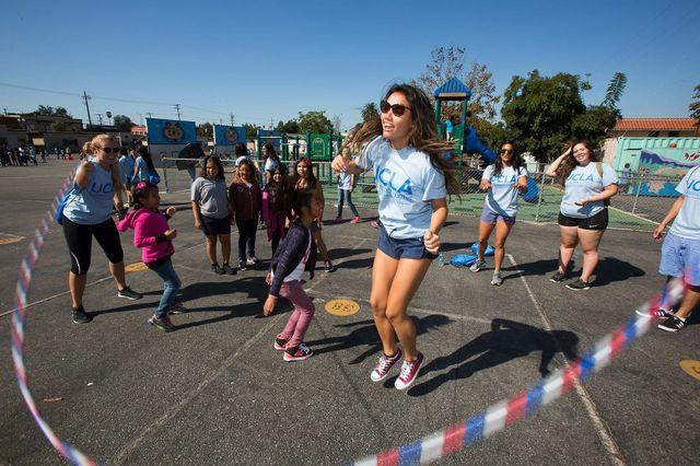 Volunteer Day jump rope