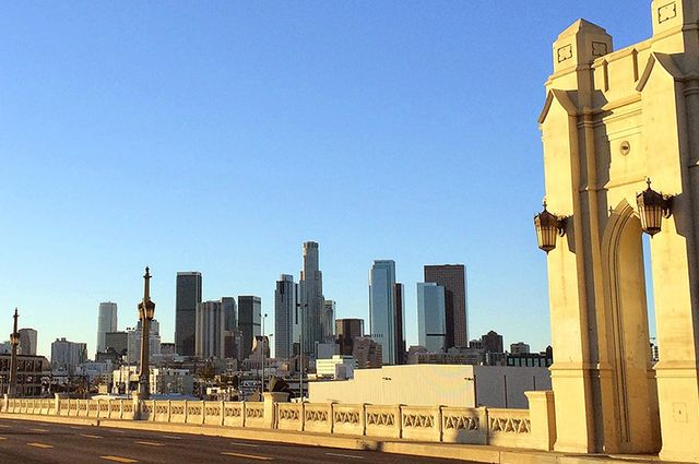 DTLA from Fourth Street bridge