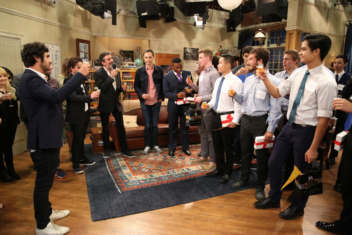 """Toast by the cast and crew of """"The Big Bang Theory"""""""