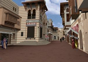 Click to open the large image: Street of Cairo at the World's Columbian Exposition of 1893