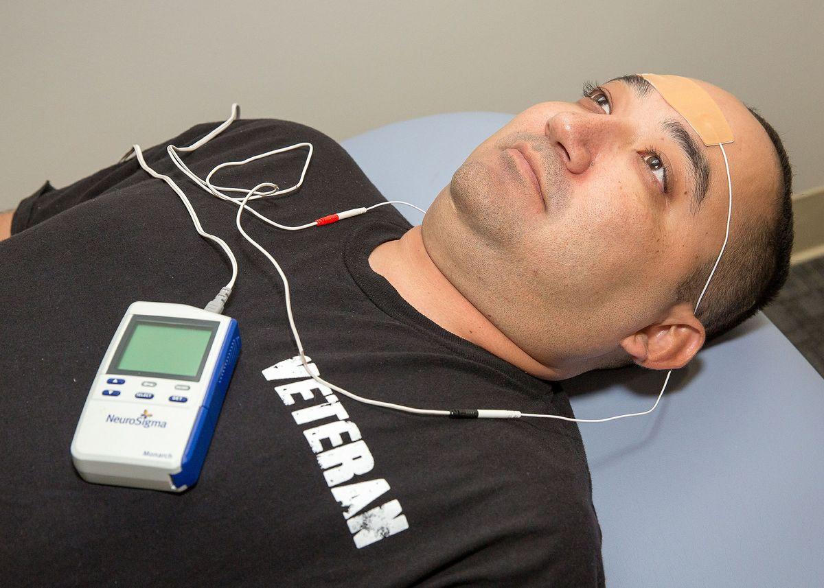 Ron Ramirez with device