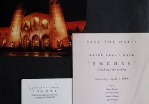 Royce Hall Celebrate the Return 1998 01