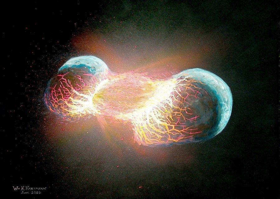 Earth - Theia collision