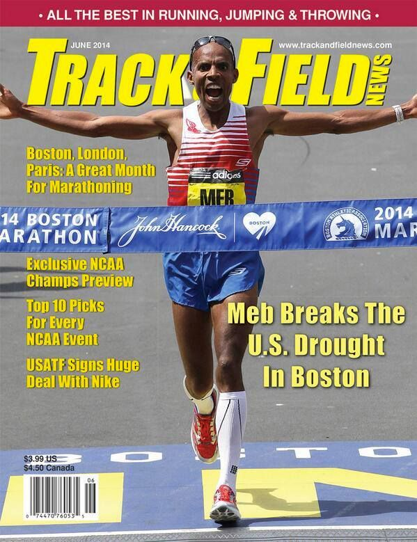 Meb Keflezighi on Track & Field cover