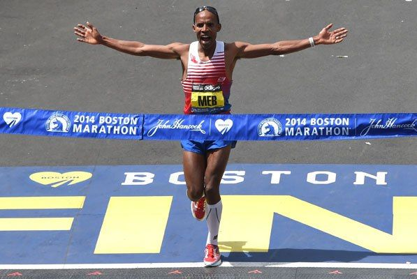 Meb Keflezighi in Boston Marathon