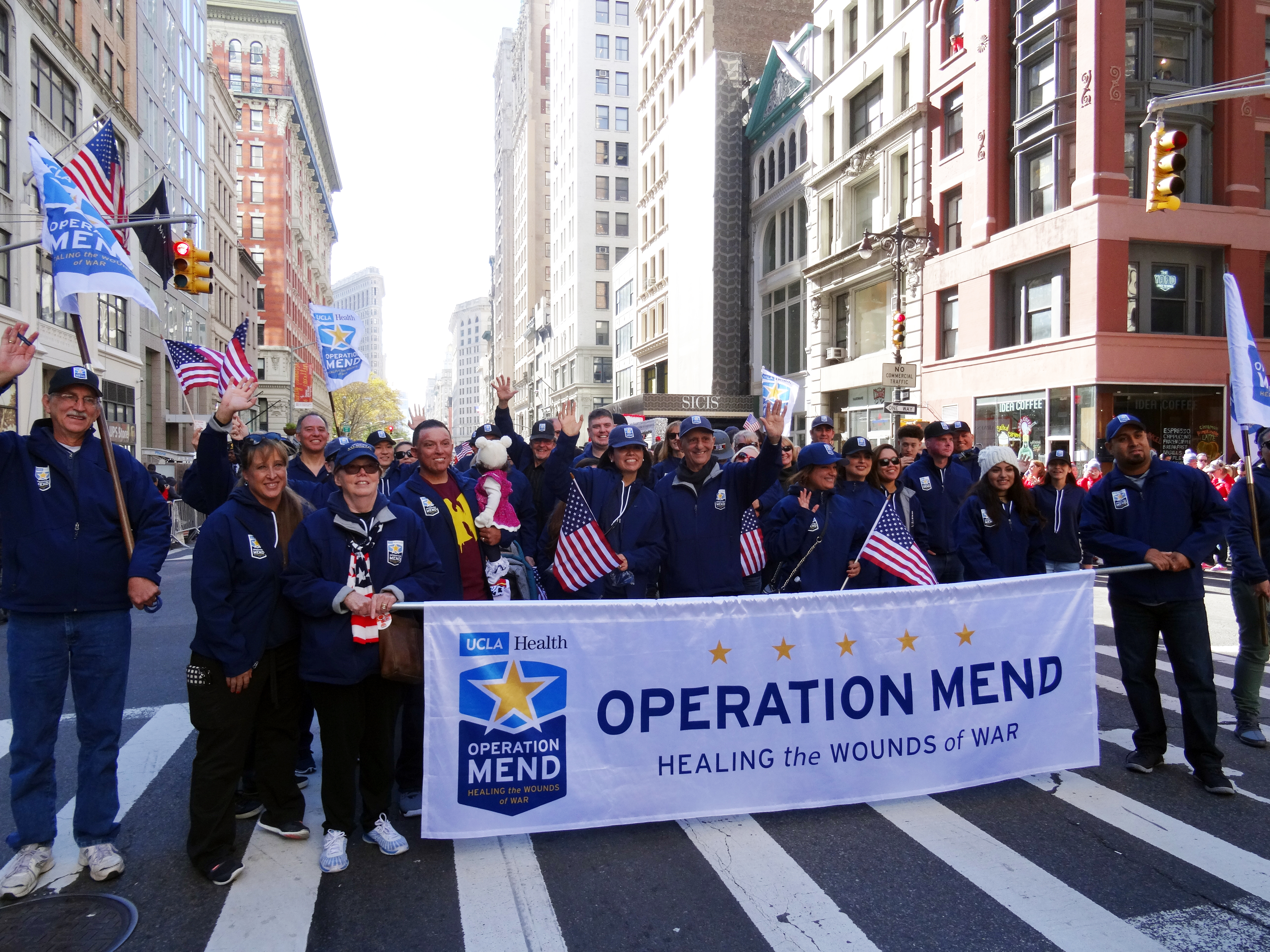 Operation Mend contingent at New York City Veteran's Day parade
