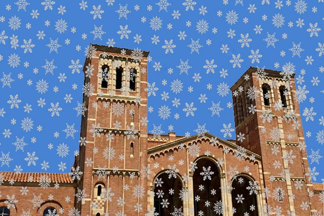 Royce Hall snowflakes