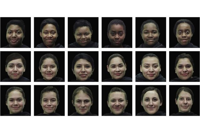 Grid of faces