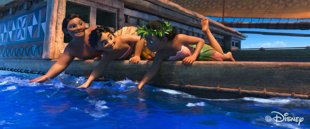 "Scene from the movie ""Moana"""