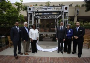 Jackie Robinson monument ceremony