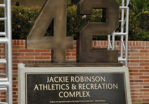 Jackie Robinson monument at UCLA