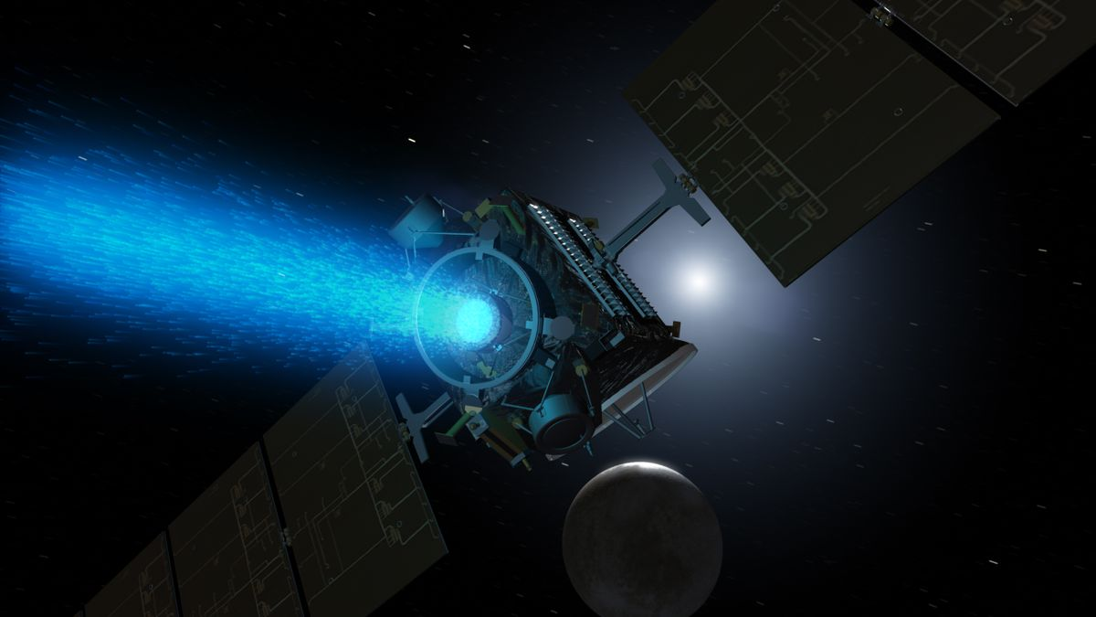 Artist's conception of Dawn at Ceres
