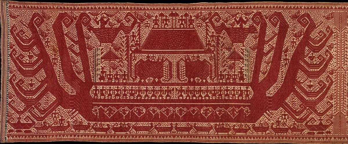 Austronesians - ceremonial textile croppped