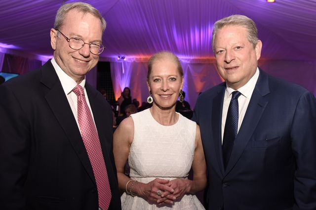 Schmidts and Gore at UCLA IoES Gala 2016