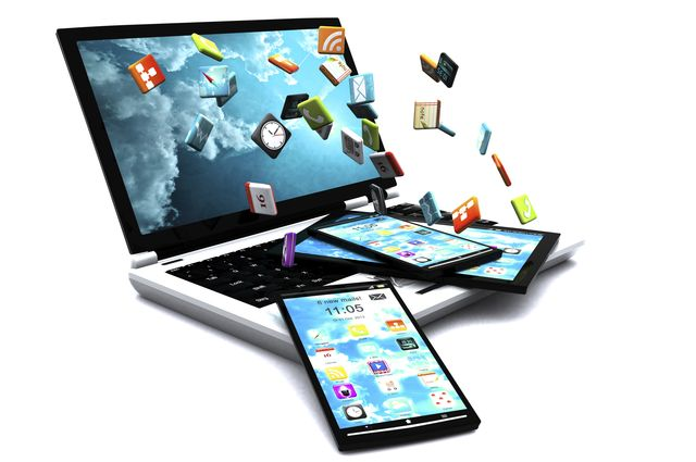 Illustration of mobile application development