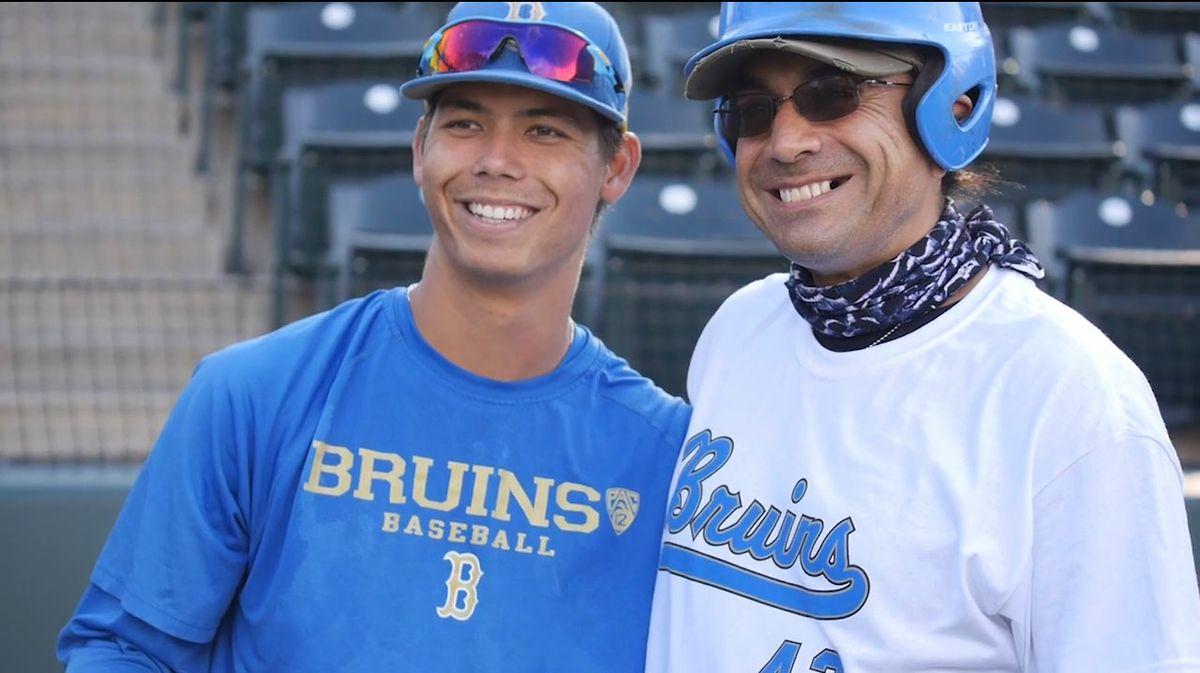 Brett Urabe and a veteran