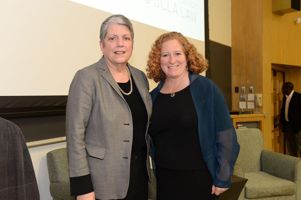 Janet Napolitano and Jennifer Mnookin